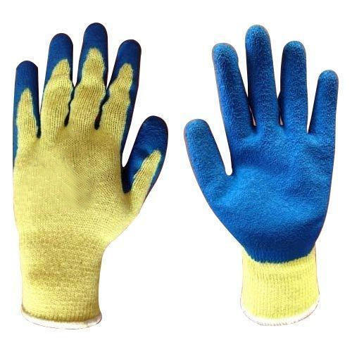 Yellow And Blue Latex Coating Gloves, For Laboratories, Rs 250 ...