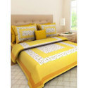 Printed Cotton Double Bed Sheet
