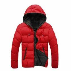 Red Men Bomber Hooded Jacket