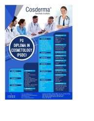 PG Diploma in Clinical Cosmetology
