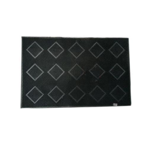 Black Rubber Door Mat