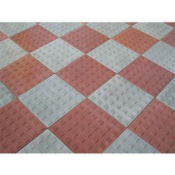 Ceramic Red, Grey Chequered Paver Tile, Thickness: 50 - 55 mm, Size: Medium