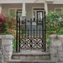 Black Cast Iron Gate