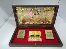 Shrinathji Gold Plated Photo Frame Box