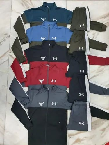 desinfectante espada alcanzar  Blue Under Armour Tracksuit 4 Way Lycra, Rs 650 /piece Patel Enterprises |  ID: 21798924373
