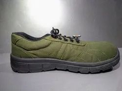 Army Green Versatile Canvas Safety Shoes, Packaging Type: Carton