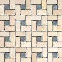 Capstona Stone Mosaics Mint Black Hole Tiles