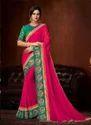 Border Work Designer Saree for Wedding Function