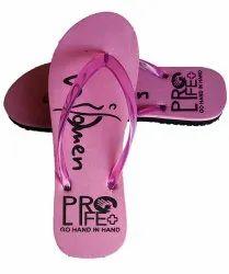Breezy Light Weight Slipper Ladies Pink Slipper, Size: 4 to 8