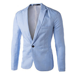 Light Blue ROYYD Party Wear Mens Blazer, Size: S-xxl
