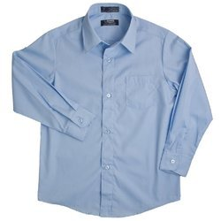 Cotton Plain Full Sleeves School Shirt, Size: Large And XL
