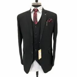 Imported Fabric Party Wear Mens Black Evening Suit, Size: M - XXL