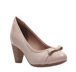 Clarks Denny Fete Pink Leather Shoes