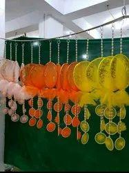 Round Hanging Net Jhumar