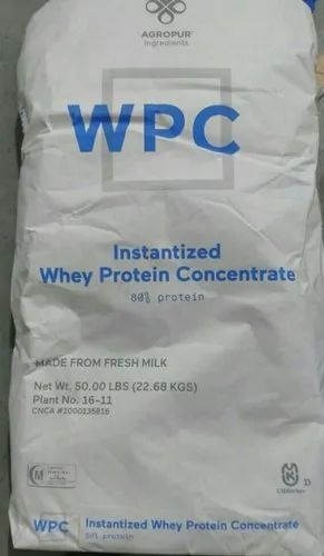Davisco Concentrate Whey Protein Agropur 80%, Packaging Type: Paper Bag, 50.00 LBS (22.68 Kgs)