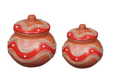Decorative Clay Curd Pot