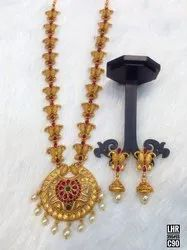 South Indian Matte Finish Jewellery Set