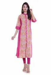 Women Cotton Long Dress Kurti