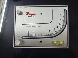 Mark II Model 27 Dwyer Manometer Range 0-7000 FPM