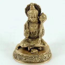 Capstona Brass Hanuman Sitting Idols