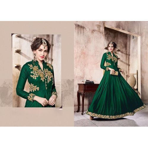 a69ca55be2b Taffeta Silk Ladies Heavy Embroidered Stitched Suit, Rs 900 /piece ...