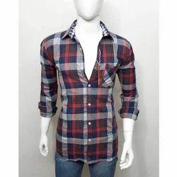 Men Cotton Check Casual Shirt
