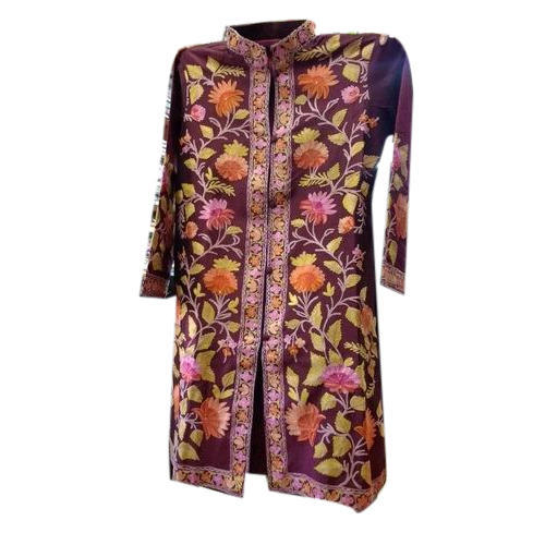 Designer Kashmiri Silk Embroidered Jackets