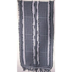 Cotton/ Wool Yarn Dyed Shawls