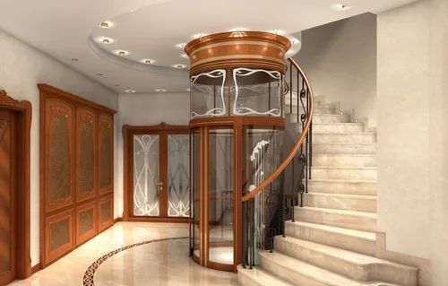 These elevators do not use a pully system, but instead, it gets lift from air pressure