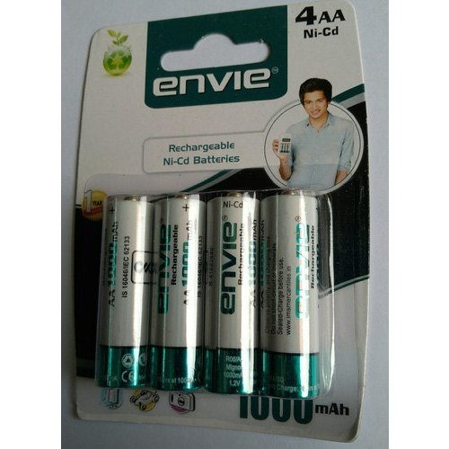 Envie Aa Rechargeable Batteries Capacity 1000 Mah 1 2 V Rs 180 Pack Id 11699275855