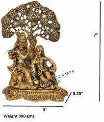 Gold Plated Radha Krishna Tree