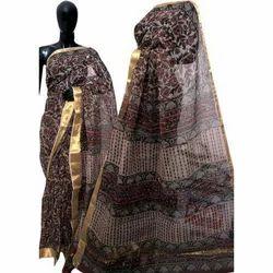 Ladies Kota Silk Saree, Length: 6.3 m