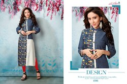 Sublime-Sarvada Creation Hanloom Cotton Digital Printed Fancy Kurtis