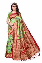 Kalamkari Mysore Silk Tessal Saree