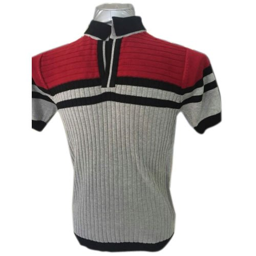 Mens Cotton Half Sleeve Fashion Collar T Shirts