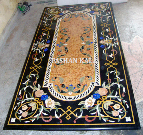 Marble Inlay Dining Table Stone Inlaid Table Top
