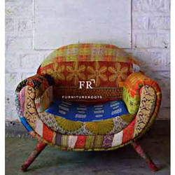 Cafe Furniture - Recycled Fabric Armchair - Resort Furniture - Resort Sofa - Hotel Designer Armchair