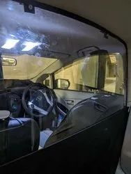Transparent Acrylic Car Partition, For Safety, Visor Thickness: 250 To 300 Mm