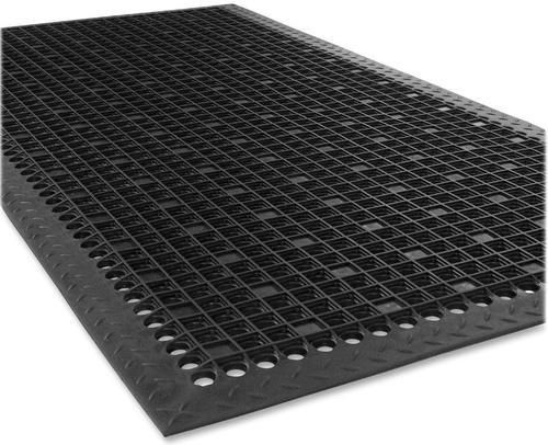 Black Rubber Floor Mat With Holes And
