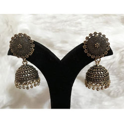 Oxidized German Silver Jhumki