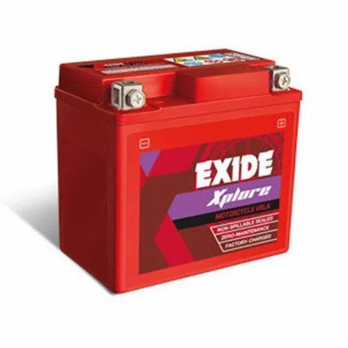 Exide Xplore Motorcycle Batteries, Capacity: 5 Ah
