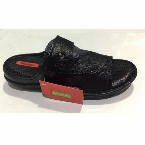 20d17e056 Mens Black Leather And PU Slipper