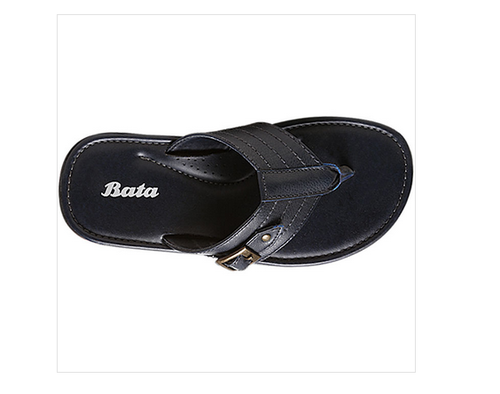 Synthetic Bata Blue Chappals For Men