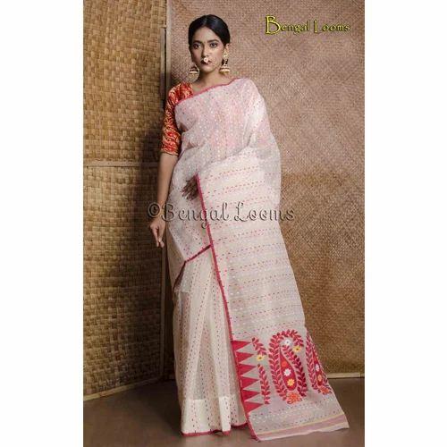 Exclusive Pure Dhakai Jamdani Sares Pure Handloom Pure Jamdani Saris
