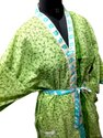 Silk Saree Bathroom Wear /Night Wear Kimono-Beach Wear