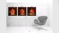 3 PCs Canvas Print With Wooden Strecher Frame