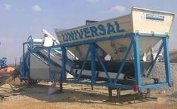 Universal Reversible Mobile Concrete Batching Plant- On Wheel