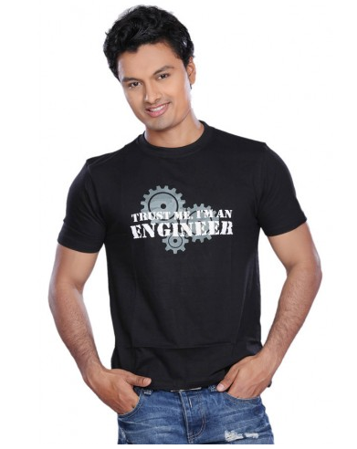 5c130f50 Trust Me I Am An Engineer Gear Black Men T Shirt at Rs 450 | Mens T ...