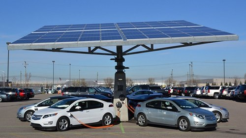 Electric Vehicle Solar Charging Stations