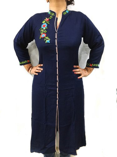 Rayon Long Embroidery Kurtis Designer Heavy Quality